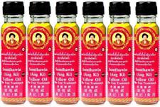x6 Somthawin Yellow Oil Thai Ang Ki Natural Massage Chinese Thailand Free Post
