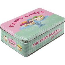 Scatola in Latta richiudibile contenitore Fairy Cakes - Fresh every Day