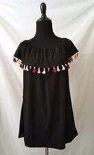 Diana Belle Women's blouse XL sleeveless shirt top tassel off/on shoulder NWT