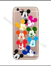 Disney Rainbow Mickey Mouse Clear Silicone Gel Case For iPhone 7 Or 8