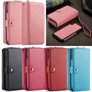 Leather Phone Wallet Case Cover Purse For iPhone 12 Pro Max8 Samsung Note 10 S10