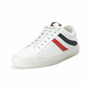 Moncler Men's MONTPELLIER White Leather Fashion Sneakers Shoes