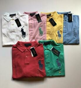 NEW POLO RALPH LAUREN MEN'S MESH SHIRTS BIG PONY LOGO SHORT SLEEVE SHIRT