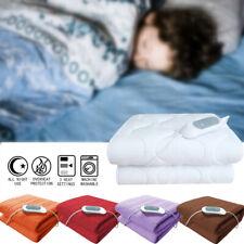 Electric Heated Blanket Warm Over Throw Fleece Rug Digital Timer