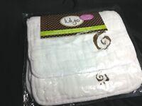 Lulujo Multi Use Baby Child Muslin organic cotton burp cloth