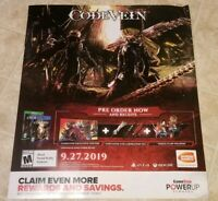 CODEVEIN Official DISPLAY POSTER Gamestop Advertisment Xbox One PS4