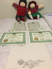 Soft Little People Cabbage Patch Xavier Roberts Fraternal Twins 85 IRISH EDITION