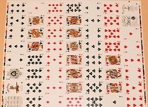 Uncut Sheet Blue Back Bee 92 US Playing Card Company