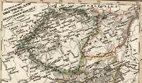 Southeast Germany Austria Bohemia Tyrol old map 1834 Stieler scarce