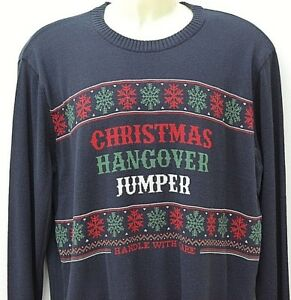 NEXT New Mens Gents Christmas Sweater Pullover Party Hangover Jumper XX-Large