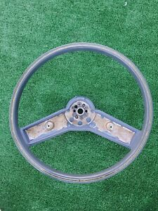 78-87 Chevy chevrolet Caprice  Steering Wheel  OEM Blue Molded Rubber mint condi