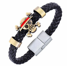 FD4317 One Piece Manga Anime Luffy Hat Portgas Ace Cosplay Pirates Bracelet