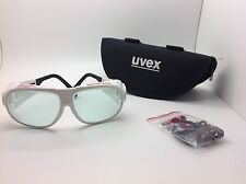 UVEX L596S Laser Glasses, Light Gray, NEW With Case, Safety Cord FREE SHIPPING