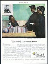 1948 Black School graduates Booker T Washington quote Avondale Mills print ad