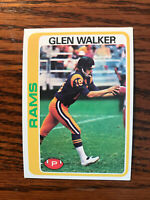 1978 Topps #479 Glen Walker Football Card Rookie RC Los Angeles Rams NFL Raw