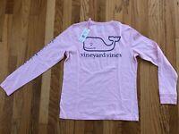 NWT Women's Vineyard Vines LS Breast Cancer Awareness Whale Pocket T-Shirt S, M