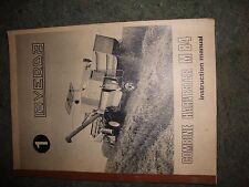 @Vintage Laverda M 84 Combine Harvester Instruction Manual@