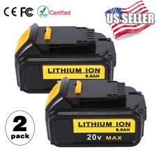 2X 20V 6.0Ah Li-lon Battery for Dewalt DCB200 DCB180 DCD985B DCS331B Fast Charge