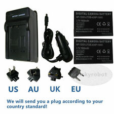2X Battery + Charger for NP-120 NP-120B Ordro HDR-AC5 HDR-AC1 HDR-AC3 HDR-AZ50