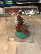 World of Miniature Bears Father and Son on Bike by Becky Wheeler COA New