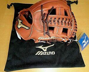 "MIZUNO PRO Jinama leather, R.H. infield glove 11.5"", glove bag, was $399. MSRP"
