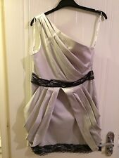 New Look Champagne party dress Size 12 with lace detail and single strap