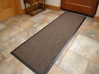 Dirt Trapper Barrier Door Mat Machine Washable Non Slip Hallway Runner Mat Brown