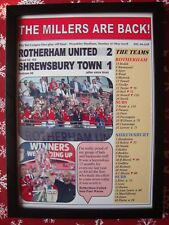 Rotherham 2 Shrewsbury 1 - 2018 League One play-off final - framed print