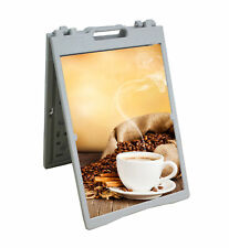 A Frame Plastic Foldable Indoor Outdoor Sandwich Board Pavement Sign