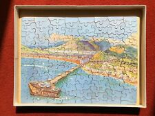 """VINTAGE CHAD VALLEY WOODEN JIGSAW- """"SEASIDE RESORT""""  PAINTED BY MONTAGUE B BLACK"""
