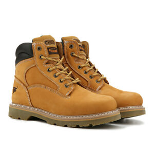Texas Steer Men's Soft Toe Work Boots Judd 00094 Oil Resistant Safety Shoes Tan