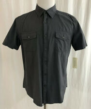 NEW - Sonoma - Gray - Button Down Short Sleeve Shirt - Men's Large