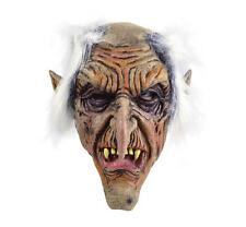 Scary Goblin Rubber Over Head Fancy Dress Mask Halloween Old Man