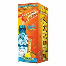 Zipfizz Energy Sports Drink Mix Orange Soda Electrolytes Green Tea Leaf Extract