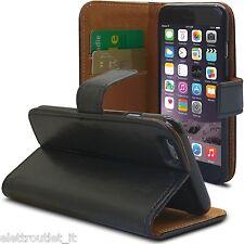 """Pellicola + Pennino + Custodia agenda portafoglio per iPhone 6 PLUS 5.5"""" Nera"""