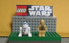 "Star Wars Lego Lot Mini Figure-Mini Fig "" R2-D2 & C-3Po (Light Gold)-#2"