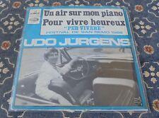 "Udo Jürgens : Un air sur mon piano,EMI,Frankreich,7"",im Bildcover"