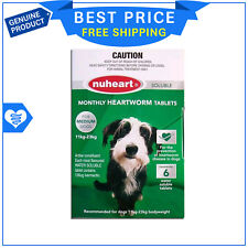 NUHEART for Dogs 11 To 23 Kg GREEN 6 Tablets Heartworm treatment by Pharmachem