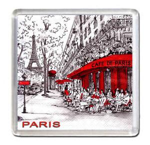 Paris Fridge Magnet Travel Souvenir France drawing