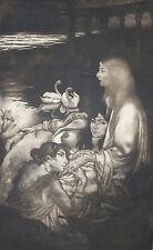 LOUIS LEGRAND-French-Signed LIM.ED Etching-Pre-Raphaelite Women-La Divine Parole
