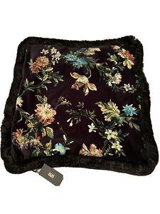 House Of Hackney Pair Of Frindged Velvet Floral Cushions