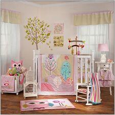 Lolli Living Poppy Seed Baby Girl's Nursery 4-Piece Crib Bedding Set, Pink/Multi