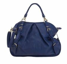 NINE WEST Austin Large Satchel Fashion Handbag Purse Blue