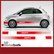 Fiat 500 Abarth EVO Seitenstreifen XL Aufkleber Dekor #017