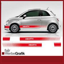 Fiat 500 Abarth Evo Pages Bandes XL Autocollant Décor #017