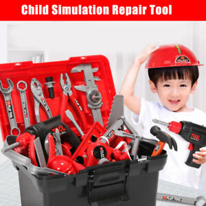 Children Kids Repairing Construction Tool Set Builder Pretend Role Play Game Toy