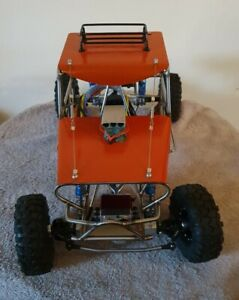 RC Rock Crawler 1:10 Scale. SCX10 Based Axials Customised Stainless Steel Frame.