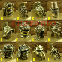 12 styles Brass helmet Lanyard beads Paracord bead use for knife tool EDC gear