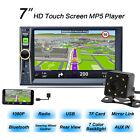 """7 """" 2 DIN voiture MP5 MP3 Lecteur Stéréo Radio Bluetooth GPS NAVIGATION FM TV +"""