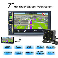 "7"" 2DIN Car MP5 MP3 Player Radio Stereo Bluetooth GPS Navi FM TV w/ Rear Camera"